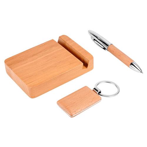 SET Luboka bolígrafo, llavero, base para smartphone y caja de regalo